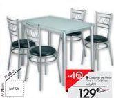 Oferta de Conjunto de mesa e cadeiras por 129€