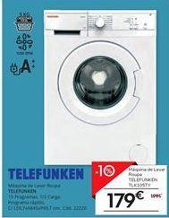 Oferta de Máquina lavar roupa por 179€