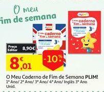 Oferta de Cadernos por 8,01€