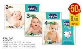 Oferta de Fraldas Chicco por 8,99€