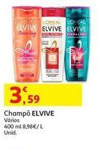 Oferta de Shampoo Elvive por 3,59€