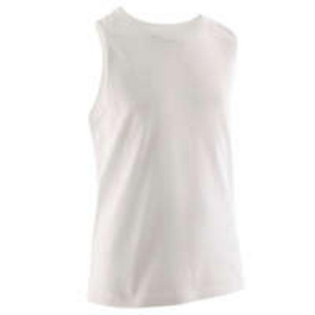 Oferta de DOMYOS T-shirt sem Mangas GINÁSTICA PARA CRIANÇAS Rapaz 100 Branco por 2,9€