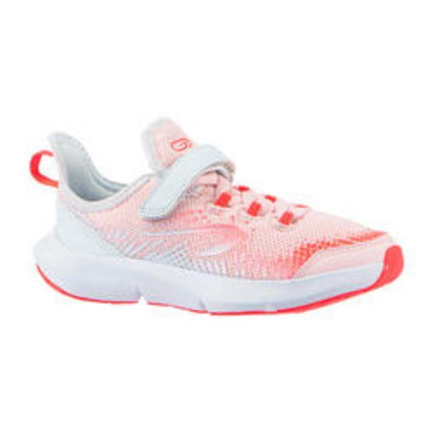 Oferta de Calçado de Corrida Criança com Velcro AT FLEX RUN Rosa/Cinza por 25€