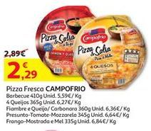 Oferta de Pizza congelada Campofrio por 2,29€