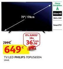 Oferta de Smart tv led Philips por 649€