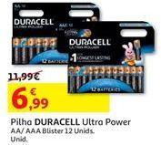 Oferta de Pilhas Duracell por 6,99€