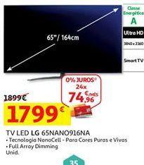 Oferta de Tv 65'' led LG por 1799€