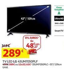 Oferta de Tv 43'' led LG por 289€