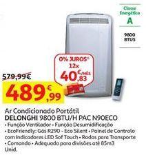 Oferta de Ar condicionado portátil Delonghi por 489,99€