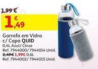 Oferta de Garrafa de vidro por 1,49€