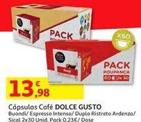 Oferta de Cápsulas de café Dolce Gusto por 13,98€