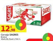 Oferta de Cerveja Sagres por 12,98€