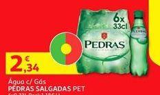 Oferta de Água com gás Pedras por 2,34€