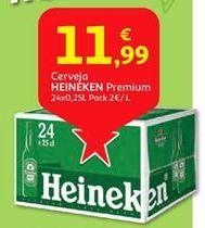 Oferta de Cerveja Heineken por 11,99€