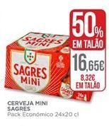 Oferta de Cerveja Sagres Mini por 8,32€