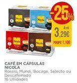 Oferta de Cápsulas de café Nicola por 3,29€