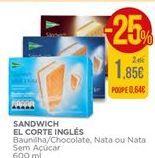 Oferta de Gelado sanduíche El Corte Inglés por 1,85€