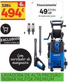 Oferta de Lavadora de alta pressão 180BAR Nilfisk Premium por 494€