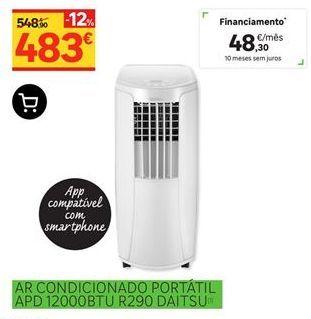 Oferta de Ar condicionado portátil APD 12000BTU R290 Daitsu por 483€