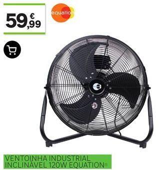 Oferta de Ventoinha industrial inclinável  120W Equation por 59,99€