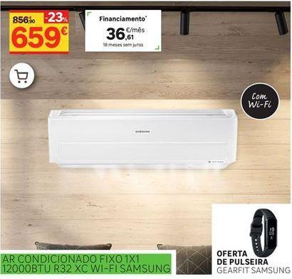 Oferta de Ar condicionado fixo 1x1 12000BTU R32 XC W-FI Samsung por 659€