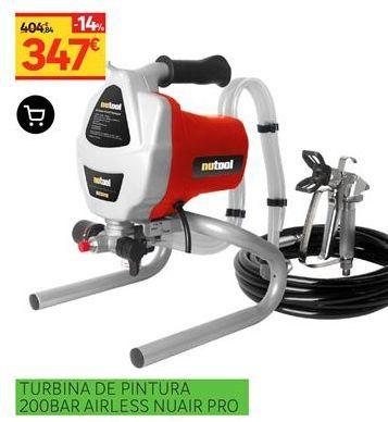 Oferta de Turbina de pintura 200BAR Airless Nuair Pro por 347€