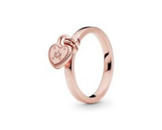 Oferta de Anel Love Lock PANDORA Rose por 59€