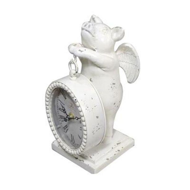 Oferta de Relógio Porco voador Branco por 17,99€