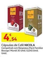 Oferta de Cápsulas de café Nicola por 4,54€