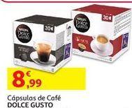 Oferta de Cápsulas de café Dolce Gusto por 8,99€