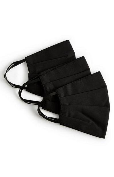 Oferta de Pack 3 máscaras sociais preto por 3€