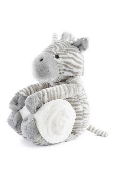 Oferta de Brinquedo de pelúcia zebra com cobertor recém-nascido por 10€