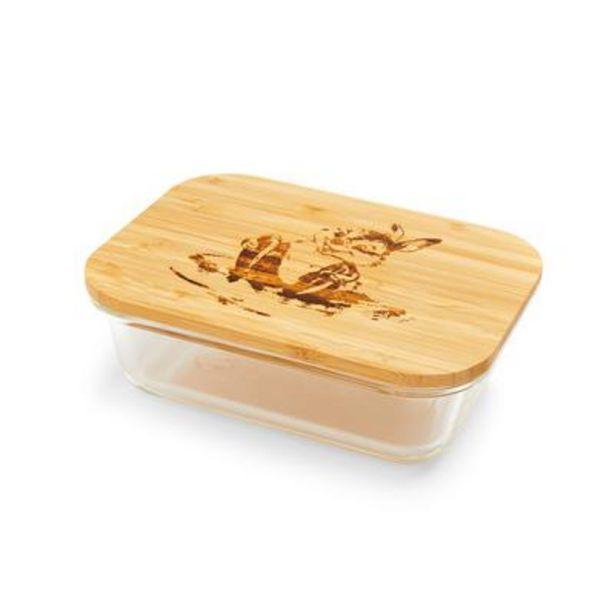 Oferta de Lancheira esboço Bambi Tambor vidro tampa madeira por 6€