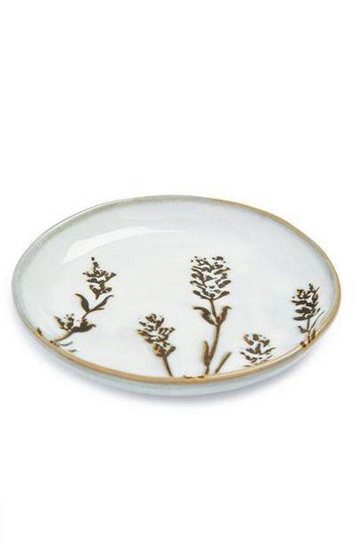 Oferta de Saboneteira padrão floral serenidade branco por 4€
