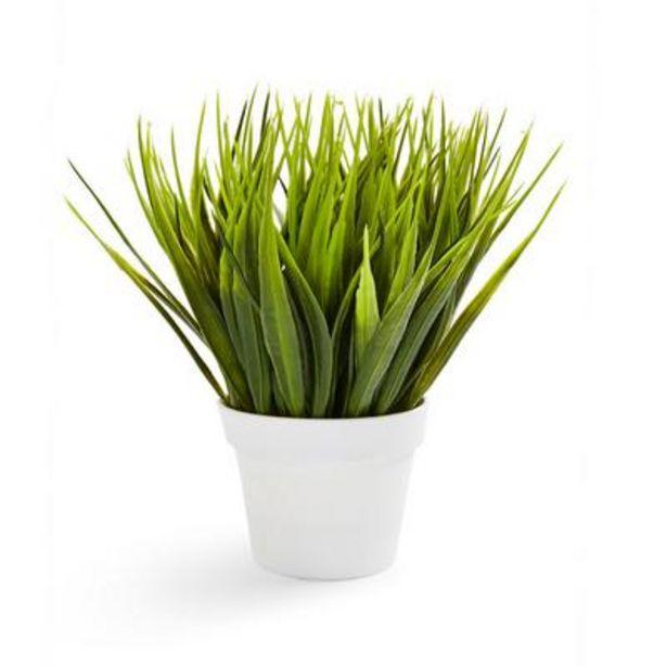Oferta de Vaso planta artificial branco por 3€