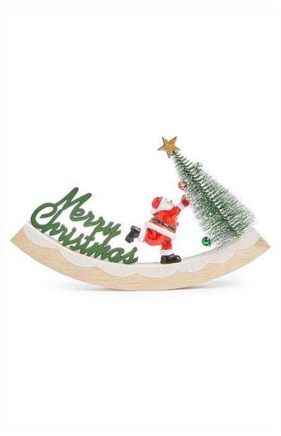 Oferta de Decoração baloiço Pai Natal madeira por 5€