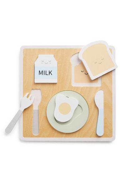 Oferta de Conjunto brincar pequeno-almoço madeira bebé por 5€