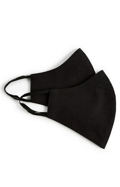 Oferta de Pack 2 máscaras sociais preto por 3€