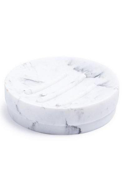 Oferta de Saboneteira circular mármore por 4€