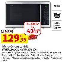 Oferta de Microondas Whirlpool por 129,99€