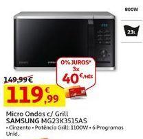 Oferta de Microondas Samsung por 119,99€