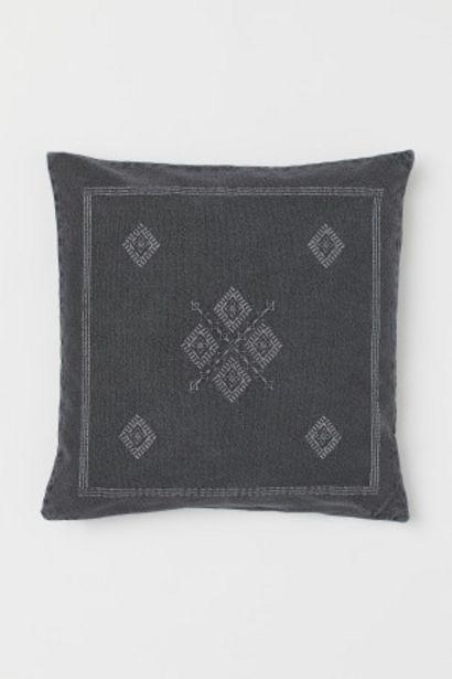 Oferta de Capa de almofada bordada por 7,99€