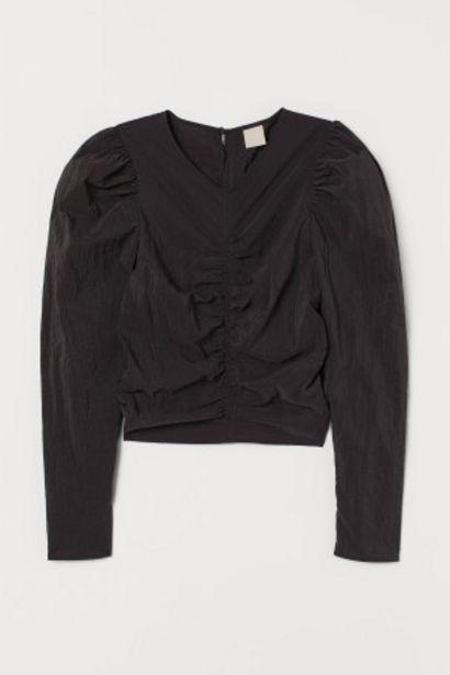Oferta de Blusa com mangas tufadas por 10,99€