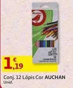 Oferta de Lápis de cor Auchan por 1,19€