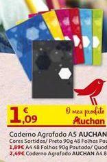 Oferta de Cadernos Auchan por 1,09€