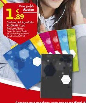 Oferta de Cadernos Auchan por 1,89€