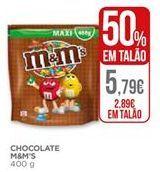 Oferta de Chocolates M&M's por 2,89€