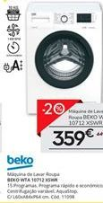 Oferta de Máquina lavar roupa beko por 359€