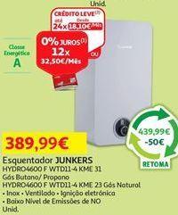 Oferta de Aquecedor Junkers por 389,99€