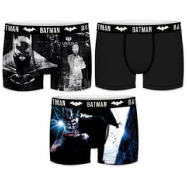 Oferta de Set 3pcs Boxers Infantil Batman Para Criança por 12€
